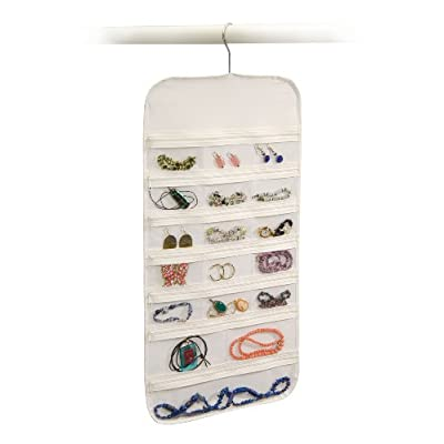 Amazon.com - Hanging Jewelry Organizer 37 Pockets Bedroom Closet Color: White -