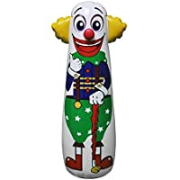 "16""L X 18""W X 52""H Inflatable Clown Punching Bag, Inflatable Toys,Stuffed Toys,indoor And Outdoor Pl"