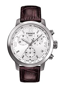 Men's Watch - Tissot - Chronograph and Tachymeter - Leather Band - Sapphire Crystal - T055.417.16.017.01