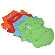 KINGMAS? 4Pcs Pet Dog Puppy Polo T-Shirt Clothes Outfit Apparel Coats Tops (Small)