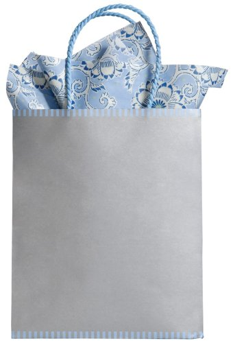 The Gift Wrap Company Wedding Bells Two-tone Kraft Tote Gift Bag (Pack of 12)