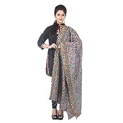 Darbari Women's Dupatta (OL-410_Grey_Free Size)