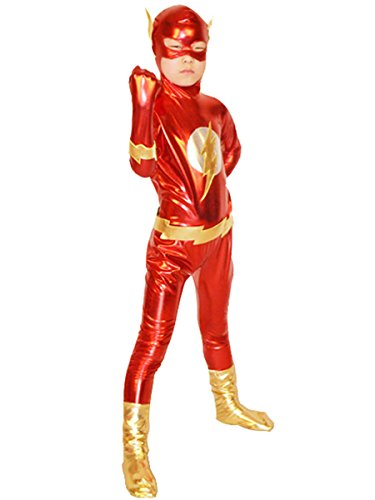 Flash Costume Boy Superhero Cosplay Kids Bodysuit Halloween