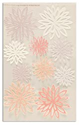 Martha Stewart Crafts Stickers Glittered Chrysanthemum Peach/White By The Package