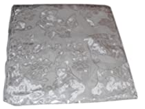 Ready to Dye Blank Cut Velvet Rayon and Silk Scarf with Fringe 12 in. x 60 in.