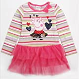 Peppa Pig applique multicoloured tutu dress mesh skirt. Lovely.18-24Months