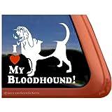 I Love My Bloodhound Dog Vinyl Window Decal Sticker