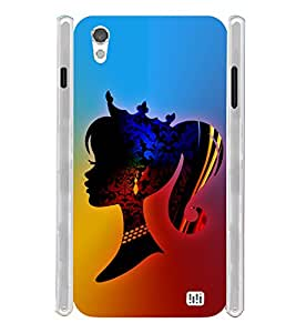 Crazy Cute Girl Soft Silicon Rubberized Back Case Cover for InFocus M370