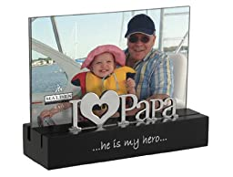 Malden I Love Papa Desktop Expressions Frame with Silver Word Attachment, 4 by 6-Inch