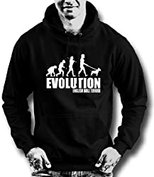 Free p&p,evolution english bull terrier dog,humour hoodie all sizes