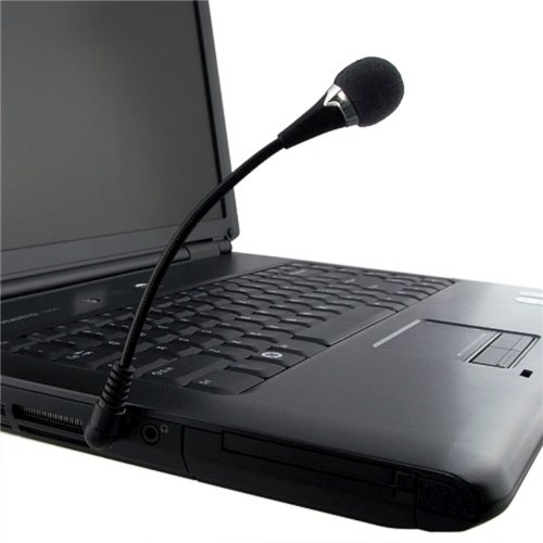 Eforcity Mini 3.5Mm Flexible Microphone For Pc/Laptop/Skype