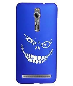 KolorEdge Printed Back Cover For Asus Zenfone 2 ZE551ML - Dark Blue (1408-Ke15184Zen2DBlue3D)