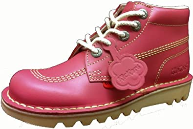 Model Womens Pale Pink Kickers Kick Hi Boots  Schuh