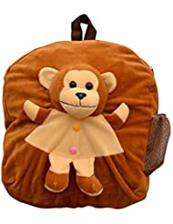 Vpra Mart Brown Monkey Toy School Bag For Kids, Travelling Bag, Carry Bag, Picnic Bag, Teddy Bag (Red & Yellow) …