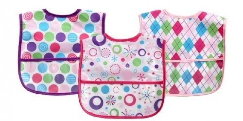 Luvable Friends 3 Easy Clean up Bibs