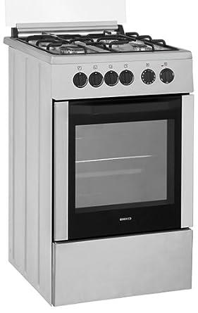 Beko CSG52001DX cuisinière - fours et cuisinières (Autonome, Acier inoxydable, Electrique, Gaz, Convection, conventionnel, Grill, Microwave, Catalyse)