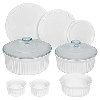 CorningWare 10 Piece Round Bakeware Set, White