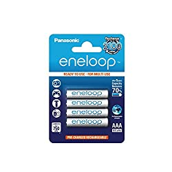 Panasonic eneloop 4×AAA 800mAh Ready to use for Multi use Ni-MH Rechargeable Batteries