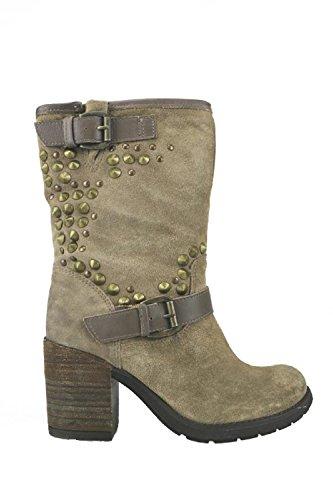 scarpe donna KEYS stivaletti beige camoscio AJ122 (38)