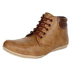 JackWood Mens Tan Synthetic Shoes