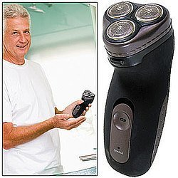 3-Head Rotary Rechargeable Cordless Shaver Contours To Face Chin And Jaw