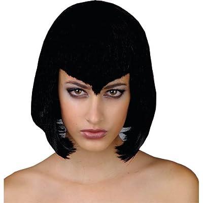 Short Black Vamp Vampire Halloween Wig