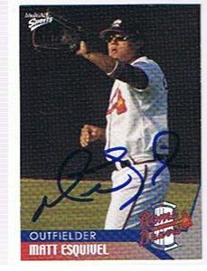 MATT ESQUIVEL 2004 ROME BRAVES AUTOGRAPHED CARD !! by Bud