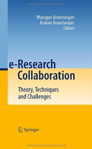 e-Research Collaboration: Theory, Techniques and Challenges: Murugan Anandarajan: 9783642122569: Books - Amazon.ca