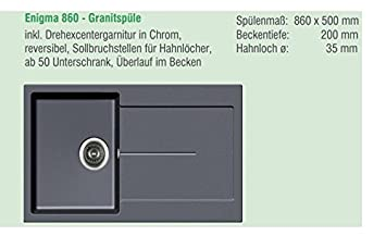 Maße Spüle hochwertige aqua bad shop granitspüle modell enigma in grau spüle