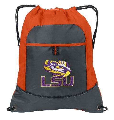 Lsu Neon Orange Drawstring Bag Lsu Tiger Eye Lightweight Cinch Backpack Bags