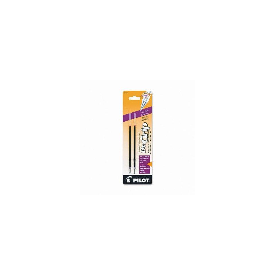 Refills for Pilot Retractable Ballpoint Pens   Better/EasyTouch/Dr Grip/GX300 Retract Ballpoint, Fine Tip, Red, 2/Pack(sold in packs of 3)