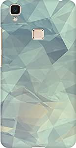 AMEZ designer printed 3d premium high quality back case cover for Vivo V3 Max (crushes geometric pattern )