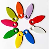 BINOCA Frame   400pcs 616.5mm Mix Color Latch Scrapbooking Locks Buttons DIY Brads Anchors Embellishment Photo Frame Rotating DIY Accessories (Color: Yellow)