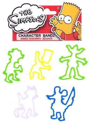 The Simpsons TV Characters Logo Bandz Bracelets - 1