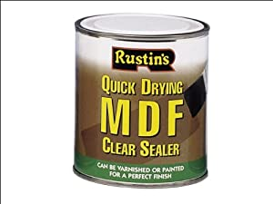 RUSTINS MDFS1000 Quick Dry MDF Sealer Clear 1 Litre RUSMDFCS1L