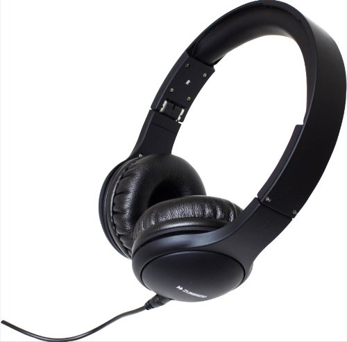 Zumreed Zhp-600 Color Rich Foldable Stereo Headphones With Built-In Mic, Black