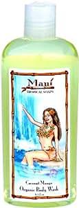 Maui Tropical Soaps Hair and Body Wash Coconut Mango, 8.5-Ounce