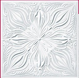 """Cheap, Discounted Decorative Ceiling Tile R-66 1/8"""" 19""""5x19""""5 Can Be Glue on Clean Smooth Flath Surface, Also Can Glued Over Secure Popcorn Ceiling Styrofoam Glue Over Popcorn or Clean Flat Surfaces.glue On,tape On!"""