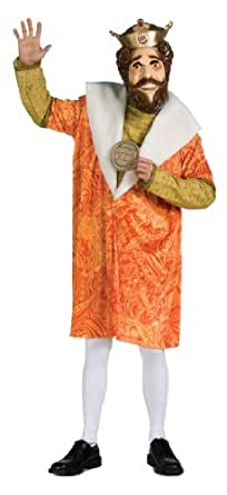 Burger King Adult Costume And Mask,Tan,Standard