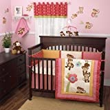 CoCo & Company Melanie The Monkey 4 Piece Crib Bedding Set (Discontinued by Manufacturer)