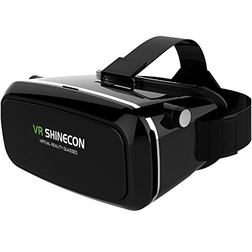 LENDOO 3D VR Box Glasses Virtual Reality Headset for 4.0-6.0 inch Smartphones iPhone 6s 6 Plus Samsung Galaxy Series for 3D Movies/Games VR SHINECON as Unique Christmas Present