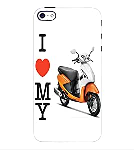 ColourCraft Scooty Back Case Cover for APPLE IPHONE 4S