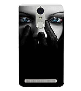 PrintVisa Blue Eyes Design 3D Hard Polycarbonate Designer Back Case Cover for Lenovo K5 Note