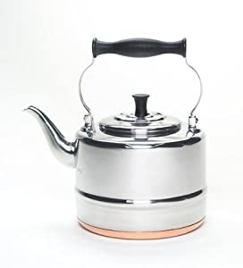 BonJour 2-Qt. Stainless Steel Classic Tea Kettle with Copper Bottom by BonJour
