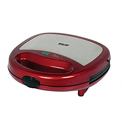 Better Chef Panini Contact Grill- Red With Stainless Steel from BETTER CHEF