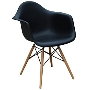 daw chair eames stuhl plastic side chair eames chair schwarz k che haushalt. Black Bedroom Furniture Sets. Home Design Ideas