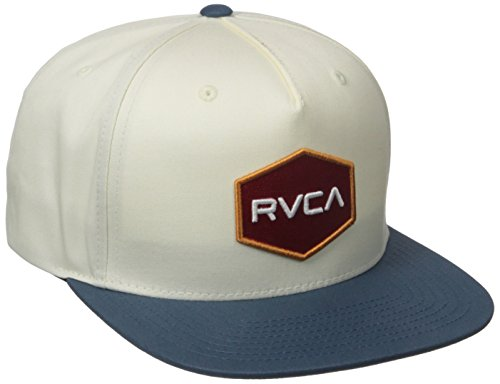 rvca-commonwealth-snapback-hat-pour-hommes-o-s-white-blue