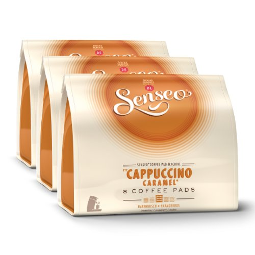 Get Senseo Cappuccino Caramel, Design, Pack of 3, 3 x 8 Coffee Pods - Douwe Egberts