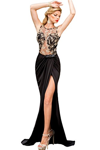 Cherry-Roll-Womens-Sleeveless-Embroidered-Mesh-Wrap-Prom-Ball-Evening-Gown