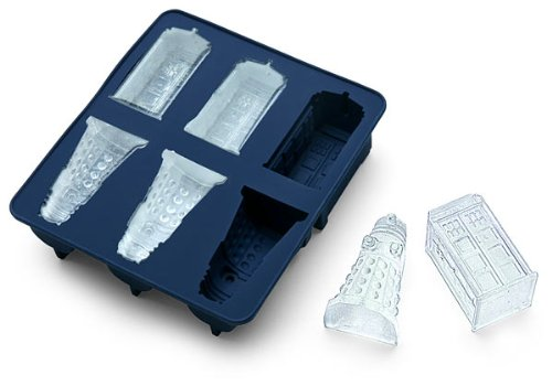 chain supply Doctor Who Silicone Ice Cube Tray Tardis & Daleks (Tiny Cube Ice Cube Tray compare prices)